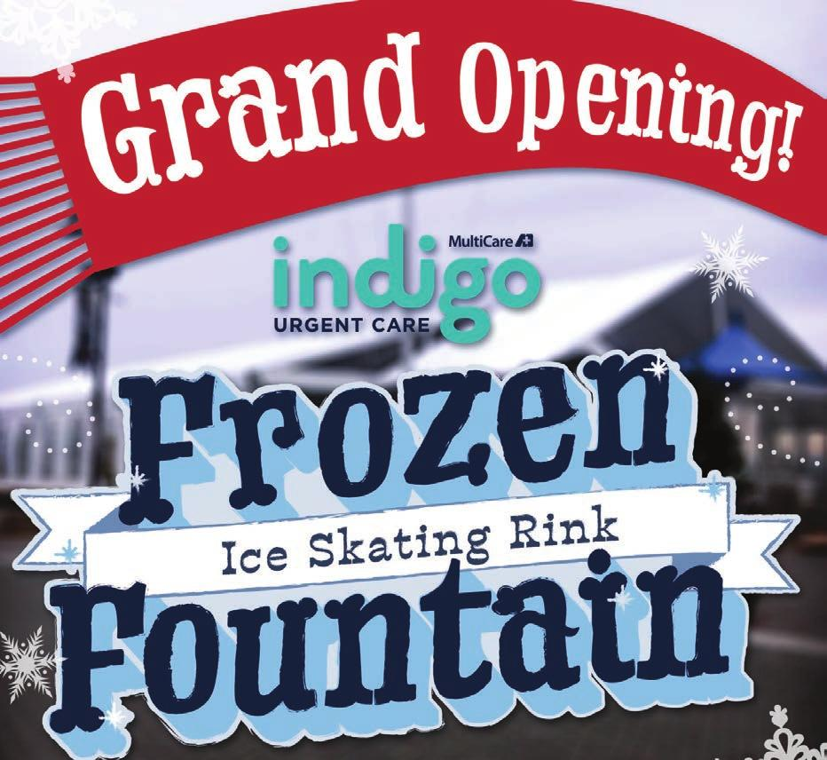 SPECIAL THANKS TO ALL OF OUR SPONSORS 10% of all proceeds from the Holiday Sales Bazaar will go to: INDIGO FROZEN FOUNTAIN ICE SKATING RINK AT POINT RUSTON!