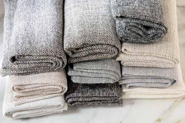 Mixed linen sheers for curtains.