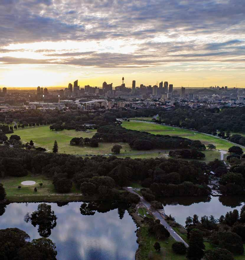 Front Cover Photo: View northeast to the city over Centennial Parklands. Courtesy of Hamilton Lund.
