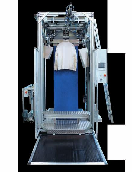 800 Garments/hr 1200 Garments/hr TLS-10 Performance Single axis machine Up to 800 garments/hour with upper and lower seals Length of 400-1700 mm (16-68 in) Integrated poly-film cradle with power