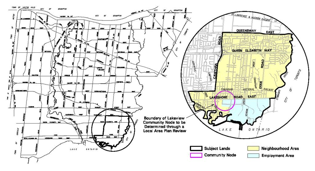 LAKEVIEW 1.0 How to Read the Lakeview Local Area Plan Mississauga Official Plan is composed of a principal document and a series of local area plans, provided under separate cover.