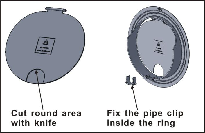 INTAKE AND OUTLET HOLES: This operation should be carried out using the proper tools (diamond tip or core borers drills with high twisting torque and adjustable rotation speed).