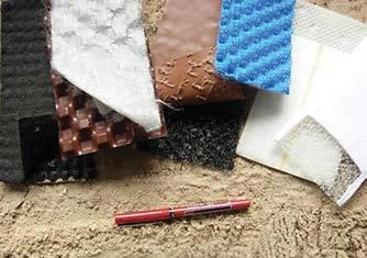 GCLs are an example of a geocomposite as are geonets covered with geotextile. Applications are numerous and constantly growing and cover the range of functions for geosynthetics.