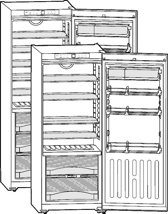 Operating and installation instructions Upright refrigerator with