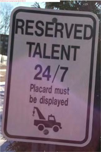 TALENT PARKING There are three (3) Reserved Talent 24/7 parking spaces in the DeBartolo Lot at the east dock.