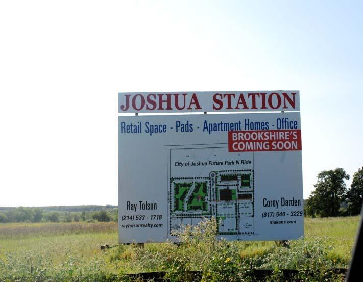 App No. 191: The City of Joshua, TX Joshua Station T.O.D. Infrastructure Project Project Description Area: 46.61 acres Land Use: Residential 138.22 Commercial 36.71 Mixed Use 96.