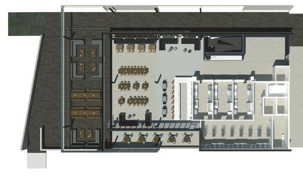 Food Hub Layout 4,951 total SF Outdoor dining Bar Reach-in
