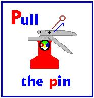 Pull Aim Squeeze Sweep Pull the pin This will allow you to