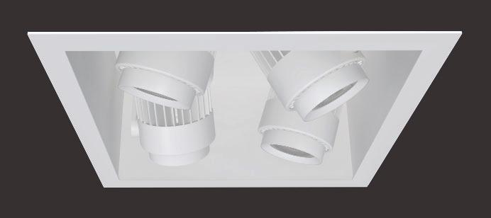 Recessed -Light Square Multiple Features Hornet High Power (HP) Multiples perform beautifully, punching through higher ambient light with strong output making them perfect for retail applications.