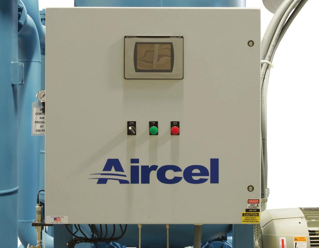 ABP Series 800-10,000 scfm Maximum Savings with Accurate Dew Point Control The Aircel Programmable Controller (APC) and Energy Management System (EMS) is standard on the ABP Series.