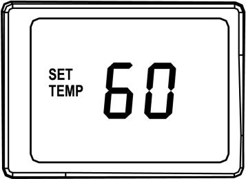 5) Setting new temperature Press either the UP or DOWN once and display the set temperature. Press either UP or DOWN again to change to your desired setting temperature.