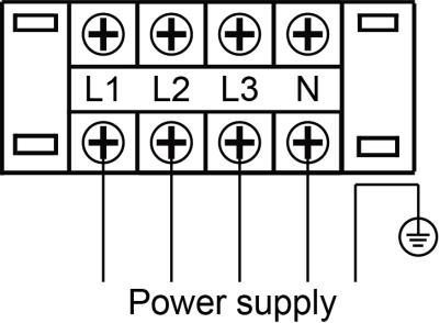 Power supply wiring diagram Wired controller wiring diagram (Standard wired controller) MRCT-100CWN1-D(C), MRCT-150CWN1-D(C), MRCT-200CWN1-D(C), MRCT-250CWN1-D(C): The standard wired