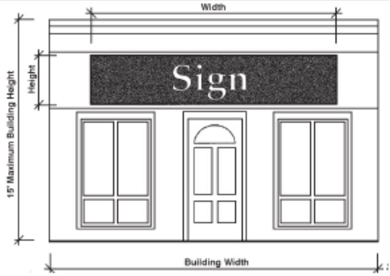 Sign location and size are important aspects of good sign design. One important criterion for selecting a sign design: bigger is not necessarily better.