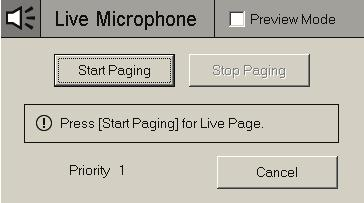 Section 4 Voice Paging NOTE: Voice paging works only on a Workstation running in Graphics Mode.