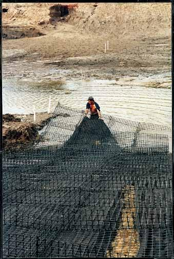 getting to the site is a significant challenge. The special, liftable configurations of Triton Gabion Mats also make a more lightweight version of a marine mattress.