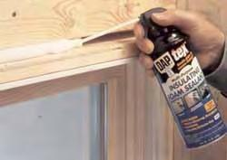 SPRAY FOAM Cracks from ½ inch to 3 inches Window Rough Openings.