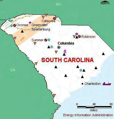 SOUTH CAROLINA South Carolina s energy consumption is among the highest in the U.S. Commercial:1.
