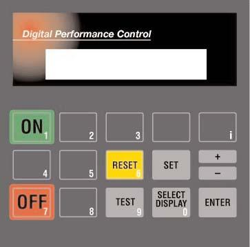 6.6 CONTROLS 6.6.1 DPC User Interface The DPC display provides the user with the operating parameters and their corresponding values.