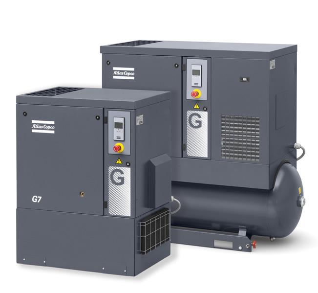 THE IDEAL SMALL BUSINESS COMPRESSOR Atlas Copco compressors are legendary for their reliability and efficiency.