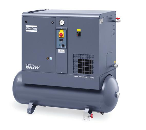 ATLAS COPCO G-SERIES A TRUSTED PARTNER Compared to piston compressors, the GX offers reduced energy consumption and high efficiency.