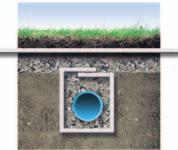 protect the drain system by preventing mingling of fines.