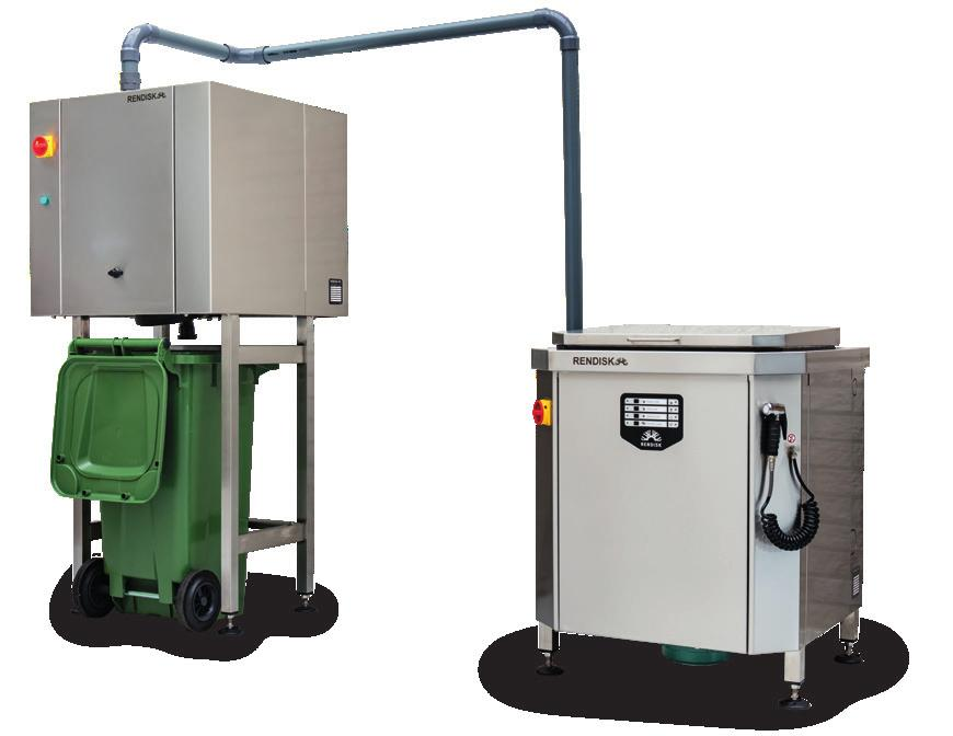 Dewater unit Rendisk Solus Transfer Waste stations with heavy duty grinder Compact solution, waste station 0.
