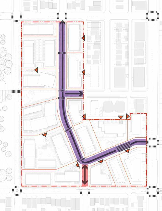 3.4.2 Vehicular Figure 3-21: Vehicular Vehicular circulation primarily occurs along the new central street, 35th Avenue and 36th Avenue.