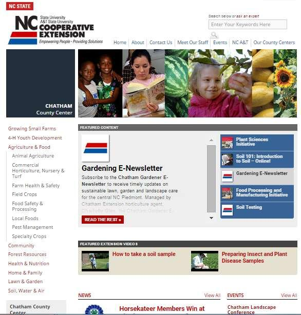 Chatham County Website http://chatham.ces.ncsu.
