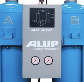 Regeneration phase: How to decrease your consumption One feature of AD adsorption dryer technology is the small amount of air required to eliminate water previously adsorbed by the desiccant material