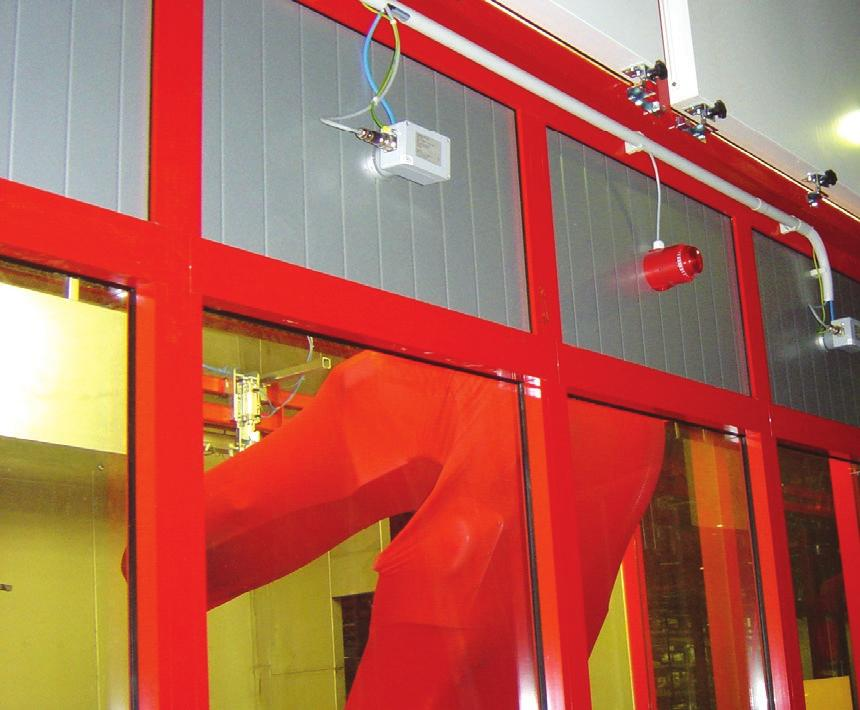 EN ISO 9 MEETS THE MEETS THE AUTOMATIC FIRE SUPRESSION SYSTEM Detection of fire in paint booth TRANSMISSION