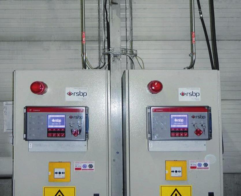 AUTOMATIC FIRE SUPPRESSION SYSTEM FIREPRO FIRE PROTECTION OF MECHANICAL EQUIPMENT CONEX control unit with manual call point and optical-acoustic alarm on case with CO In many industries, we encounter