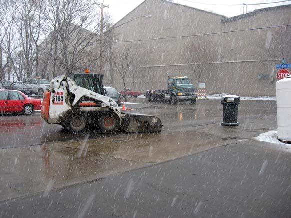 Winter Exits and Street Sweeping Due to safety concerns and spring