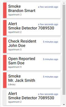 Alerts ALERTS Alerts Alerts are displayed sequentially as they occur, by priority (in order of newest to oldest), and are color coded according to the alert type.