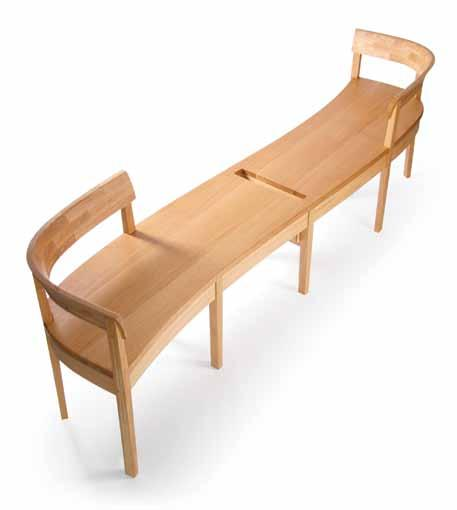 Christian O Reilly created three bespoke benches for the Graves Gallery.
