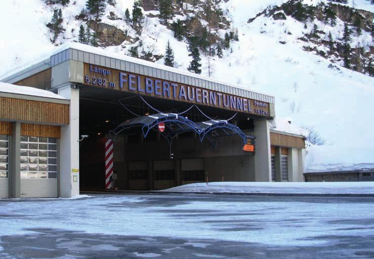Felbertauern tunnel is one of the most important north-south road links in the Alps.