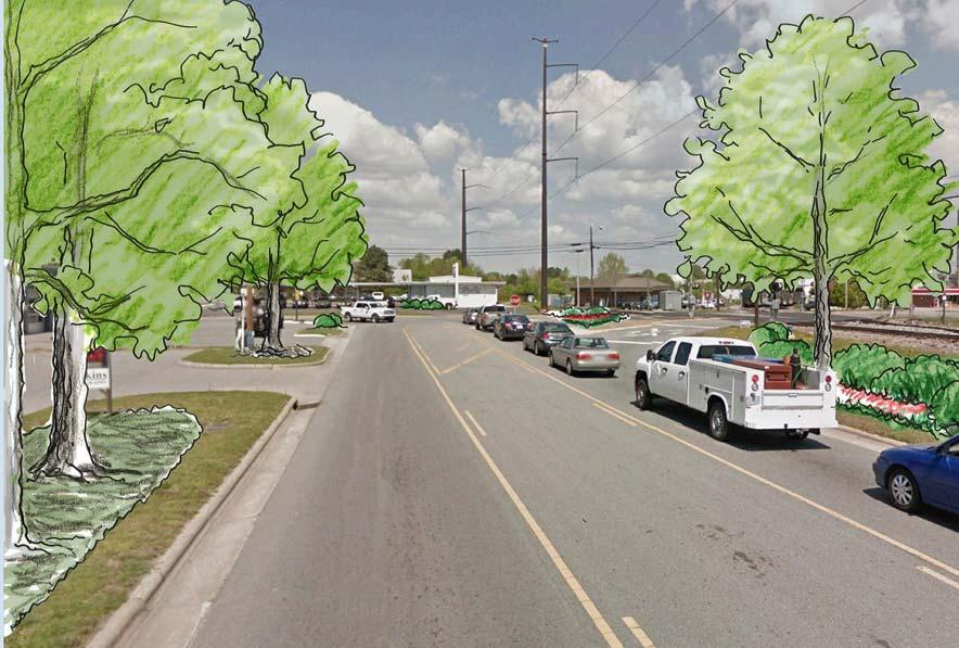 Comments: Love making use of Depot. Trees in middle of street would be great if room allows.