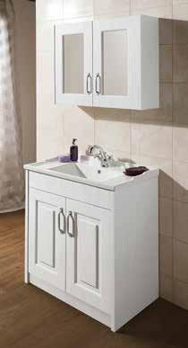 With two sizes of vanity unit, matching mirrors and a complementing WC unit you can have the