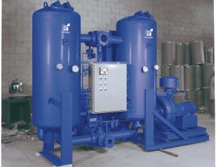 B L O W E R P U R G E R E G E N E R A T I V E D R Y E R S Arrow Pneumatics BP series blower purge regenerative dryers are more economical to operate than heated or heatless regenerative dryers.