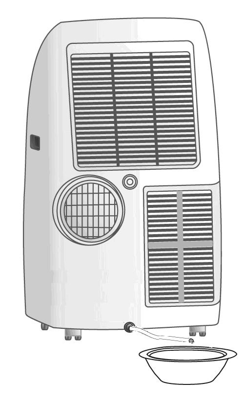 NOTE The air conditioner does not cool the room when operating as a dehumidifier. When the appliance is used as a dehumidifier, the flexible pipe must not be connected.