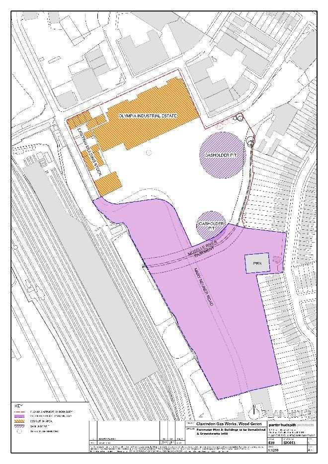 Parameter Plan 2 (Figure 5.5) identifies the buildings to be demolished including the Olympic Trading Estate and buildings along Western/Coburg Road (No s. 57-89).
