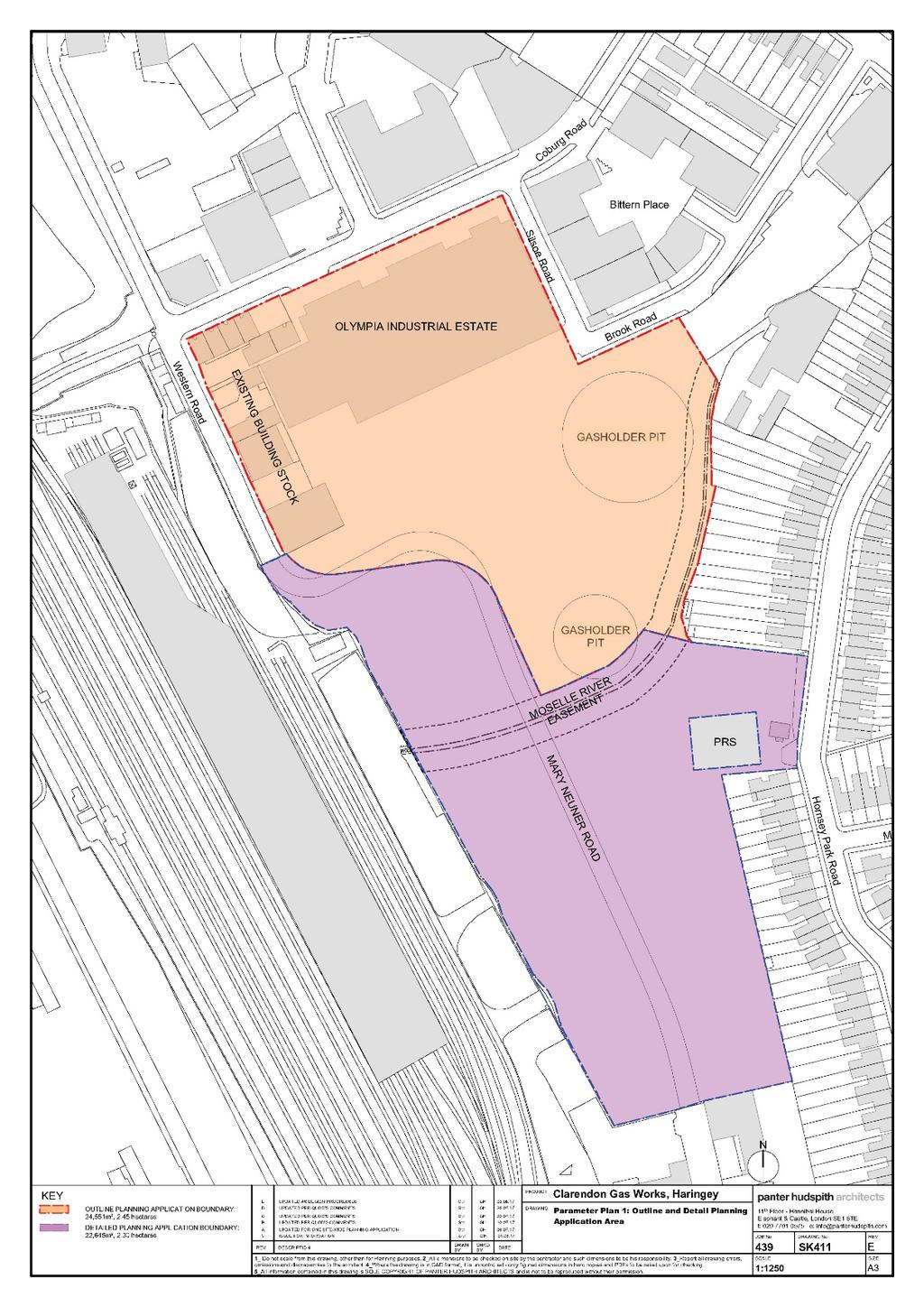 The submitted planning application is a hybrid application (the Application ) and comprises an Outline Component for the northern part of the Site (approx. 2.