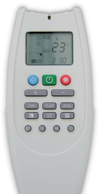 CONTROL SYSTEMS Wireless or wired Universal Digital Remote Control All air-conditioner operating parameters can be controlled from the remote control: operating modes (auto or cooling only, heat pump