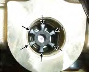 alignment of the valve