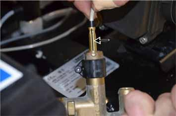installation position of the reed switch on the casing: The marking