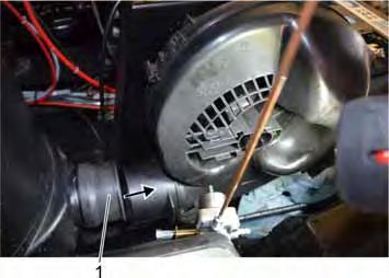 Carefully slide the blower unit to the back so that the branch is