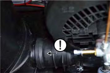 Remove the bottom part of the blower. Unscrew 4 screws. Push out the motor towards the back.