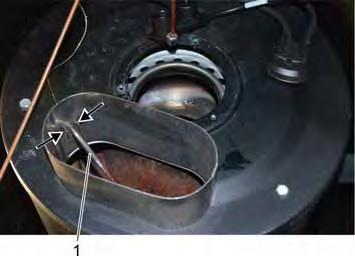 When sliding the flame sensor into the support, ensure that it is in the correct position. Otherwise the support cannot be closed. When changing the flame sensor, it must be electrically disconnected.