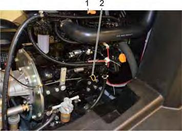 6 Check the oil level on the motor / refill motor oil CAUTION Only trained personnel is permitted to add motor, gear and Risk of damage! pump oil.