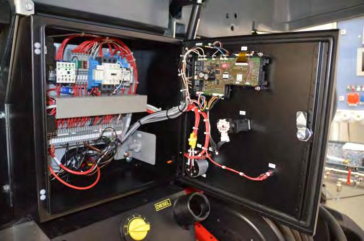 7.4.2 Control panel, view from the inside Electric components are located in the