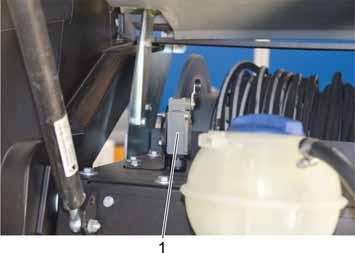 10.4 Service tasks with opened front cover A safety switch stops the motor upon opening the front cover, starting the motor is not possible when the front cover is open.